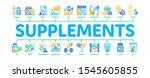 supplements minimal infographic ... | Shutterstock .eps vector #1545605855