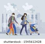 family people parents  children ... | Shutterstock .eps vector #1545612428