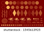 set of gold decorative elements ... | Shutterstock .eps vector #1545613925