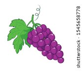purple grapes illustration.... | Shutterstock .eps vector #1545658778
