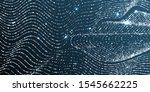 curve lines silver glitter... | Shutterstock .eps vector #1545662225