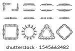 text frame  monogram  divider ... | Shutterstock .eps vector #1545663482