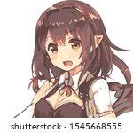 Anime Girl With Triangular...