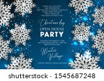 merry christmas party... | Shutterstock .eps vector #1545687248