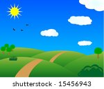 raster  meadow in summer day | Shutterstock . vector #15456943