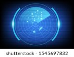 digital blue realistic vector... | Shutterstock .eps vector #1545697832