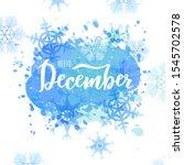 december word. hand lettering... | Shutterstock .eps vector #1545702578