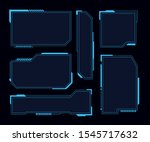 hud frames. futuristic modern... | Shutterstock .eps vector #1545717632