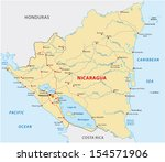 nicaragua road map | Shutterstock .eps vector #154571906