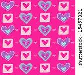 valentine's hearts seamless... | Shutterstock . vector #15457321