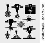 laser machine beam cutting... | Shutterstock .eps vector #1545752705