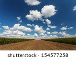 blue cloudy sky over the... | Shutterstock . vector #154577258