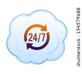 icon on the clouds | Shutterstock . vector #154579688