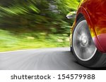 Stock photo car in curve 154579988