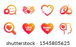 marry me  hold heart and search ... | Shutterstock .eps vector #1545805625