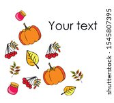 colorful vector hand drawn... | Shutterstock .eps vector #1545807395