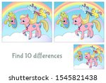 little pegasus' comb the pony's ... | Shutterstock .eps vector #1545821438