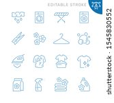 laundry related icons. editable ... | Shutterstock .eps vector #1545830552