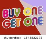 buy one get one letters banner... | Shutterstock .eps vector #1545832178