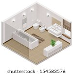 3d,apartment,architecture,bath,bathroom,bathtub,bidet,bowl,building,cabinet,carpet,cutaway,decor,decoration,design
