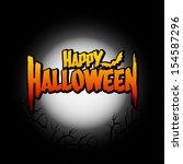 halloween template background ...   Shutterstock .eps vector #154587296