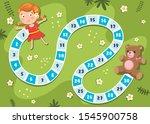 numbers boardgame illustration... | Shutterstock .eps vector #1545900758