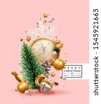 merry christmas and happy new... | Shutterstock .eps vector #1545921665