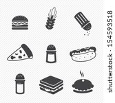 fast food icons set isolated on ... | Shutterstock .eps vector #154593518