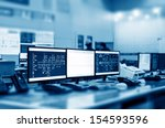 modern plant control room and... | Shutterstock . vector #154593596