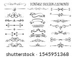 vintage design elements. vector ... | Shutterstock .eps vector #1545951368