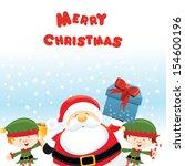 santa with elves   Shutterstock .eps vector #154600196