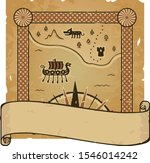 Small Square Norse Map On A...