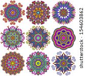 circle lace ornament  round... | Shutterstock .eps vector #154603862
