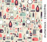 vintage pattern with cosmetic... | Shutterstock .eps vector #154603946