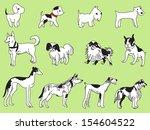 doggy illustration set   Shutterstock .eps vector #154604522