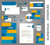 dynamic stationery template... | Shutterstock .eps vector #154605182