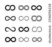 set infinity symbol icons...   Shutterstock .eps vector #1546056218