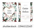 winter berries and rose... | Shutterstock . vector #1546112165