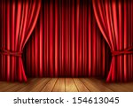 background with red velvet... | Shutterstock .eps vector #154613045