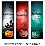 set of holiday halloween... | Shutterstock .eps vector #154613075