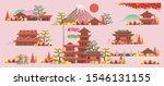 japan style building. beautiful ... | Shutterstock .eps vector #1546131155
