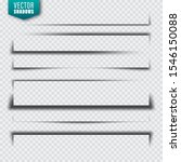 vector shadows set. page... | Shutterstock .eps vector #1546150088
