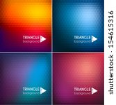 abstract triangle backgrounds...   Shutterstock .eps vector #154615316