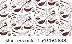 Brown Seamless Pattern. Kitche...
