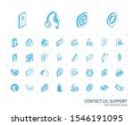isometric line icon set. 3d... | Shutterstock .eps vector #1546191095