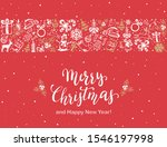 text merry christmas with...   Shutterstock . vector #1546197998