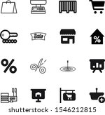 market vector icon set such as  ... | Shutterstock .eps vector #1546212815