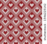 knitted design with hearts.... | Shutterstock .eps vector #1546225142