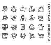 e commerce service outline...   Shutterstock .eps vector #1546227065