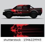 truck decal graphic wrap vector ...   Shutterstock .eps vector #1546229945